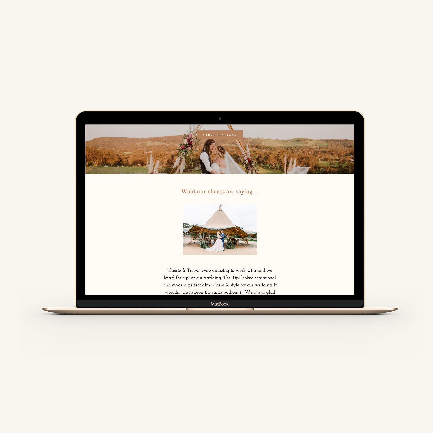 Tipi Lane Website Design