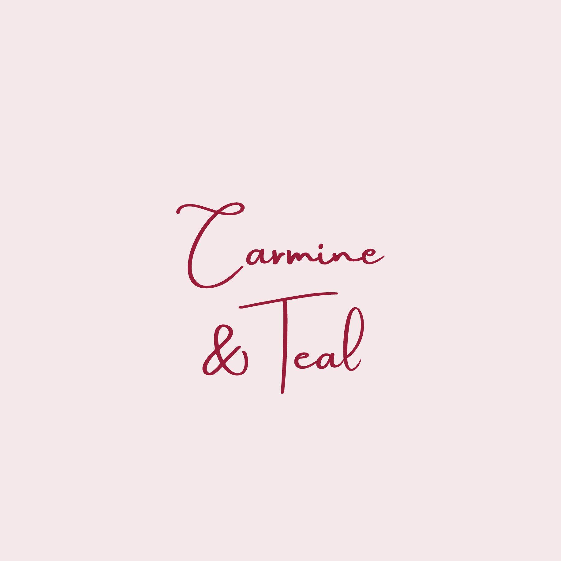 Carmine & Teal Logo Design