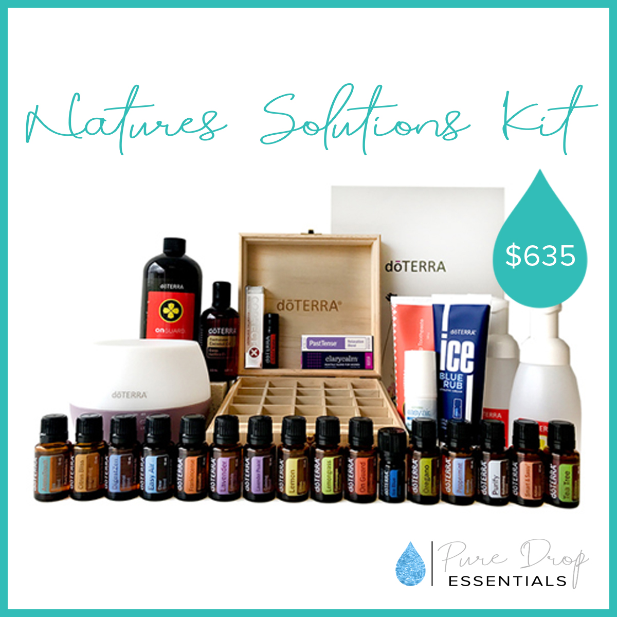 doTERRA's Natures Solutions kit is the perfect kit to get you going with essential oils. It contains everything you need to support your families well-being and start your journey with reducing your toxic load
