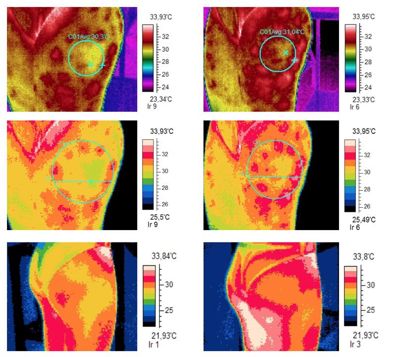 Termografia side-by-side effetto azione MIG3