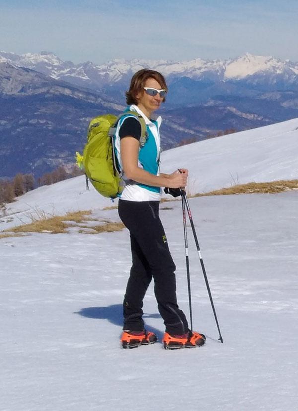 Raffaela Rosa, tecnico nazionale di nordic walking in azione