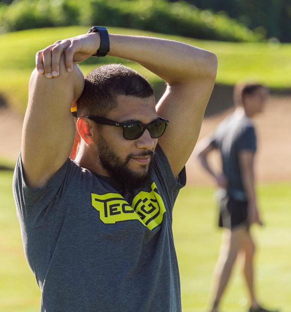 Ismael Mrani usa i leggings Recovery con tecnologia MIG3