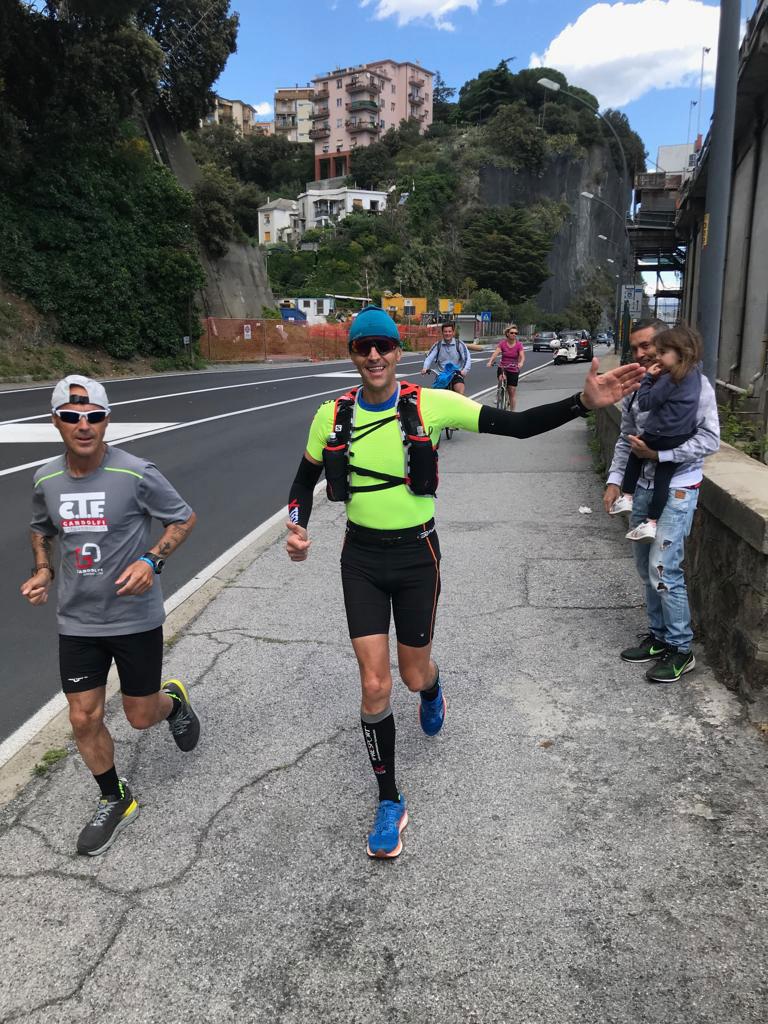 Massimo Sinigaglia, ultra maratoneta alla Milano Sanremo