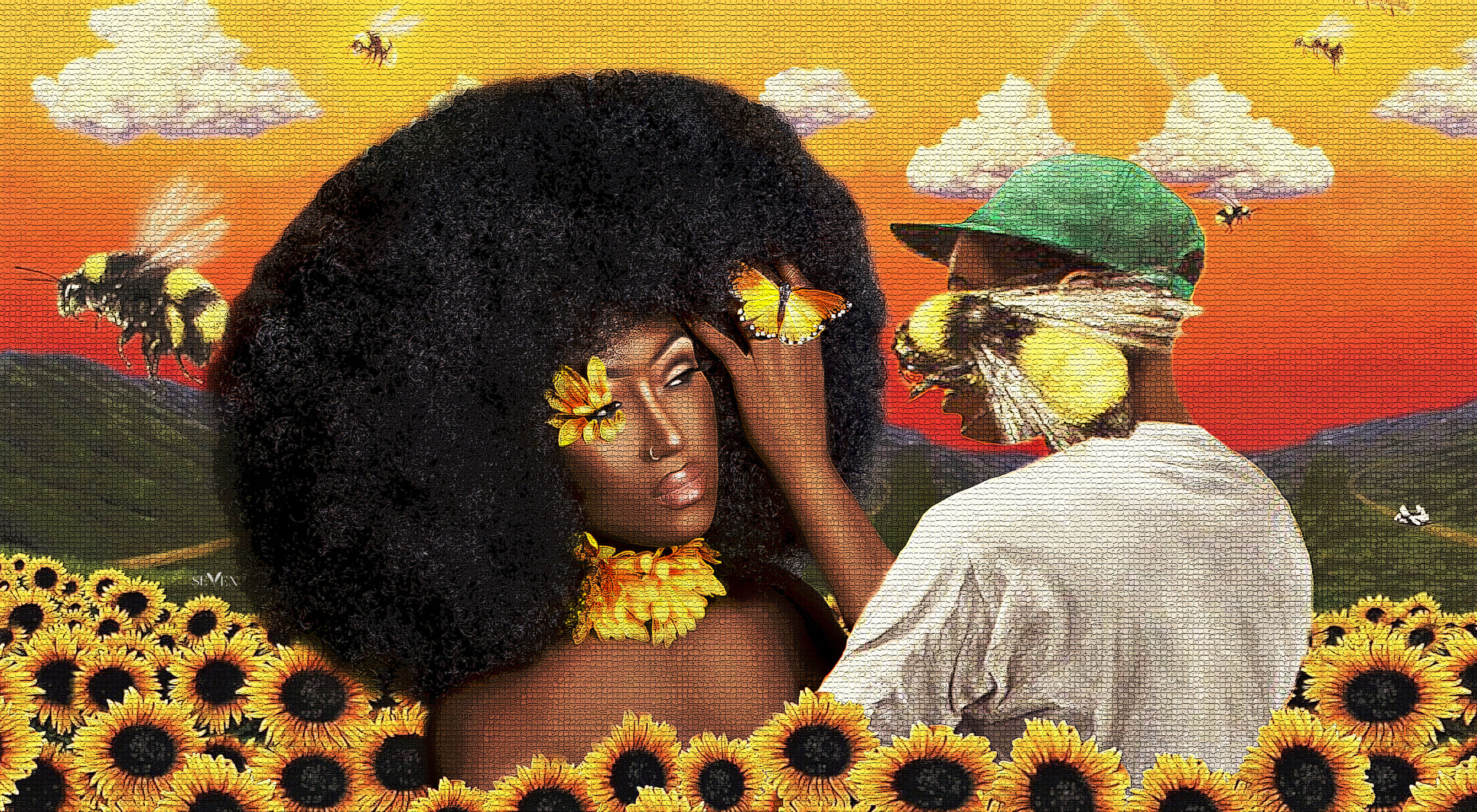 Symone Seven fan art of Tyler the Creator's Flower Boy Album