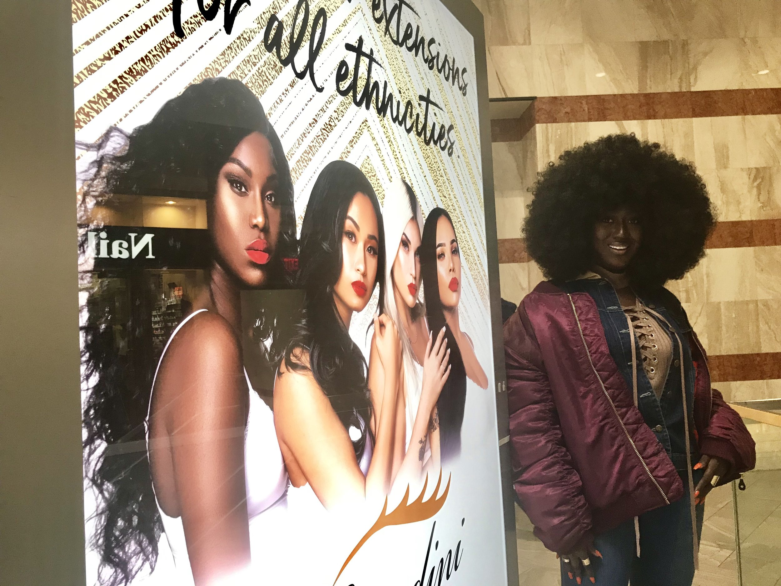 Thanks to Amodini Hair Company for my first billboard in Atlanta's Perimeter Mall