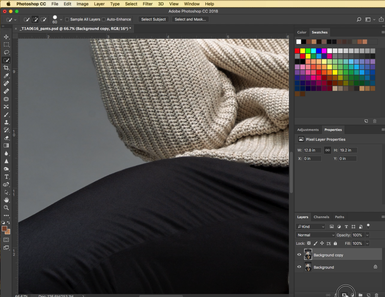 5.Apply a layer mask to your layer