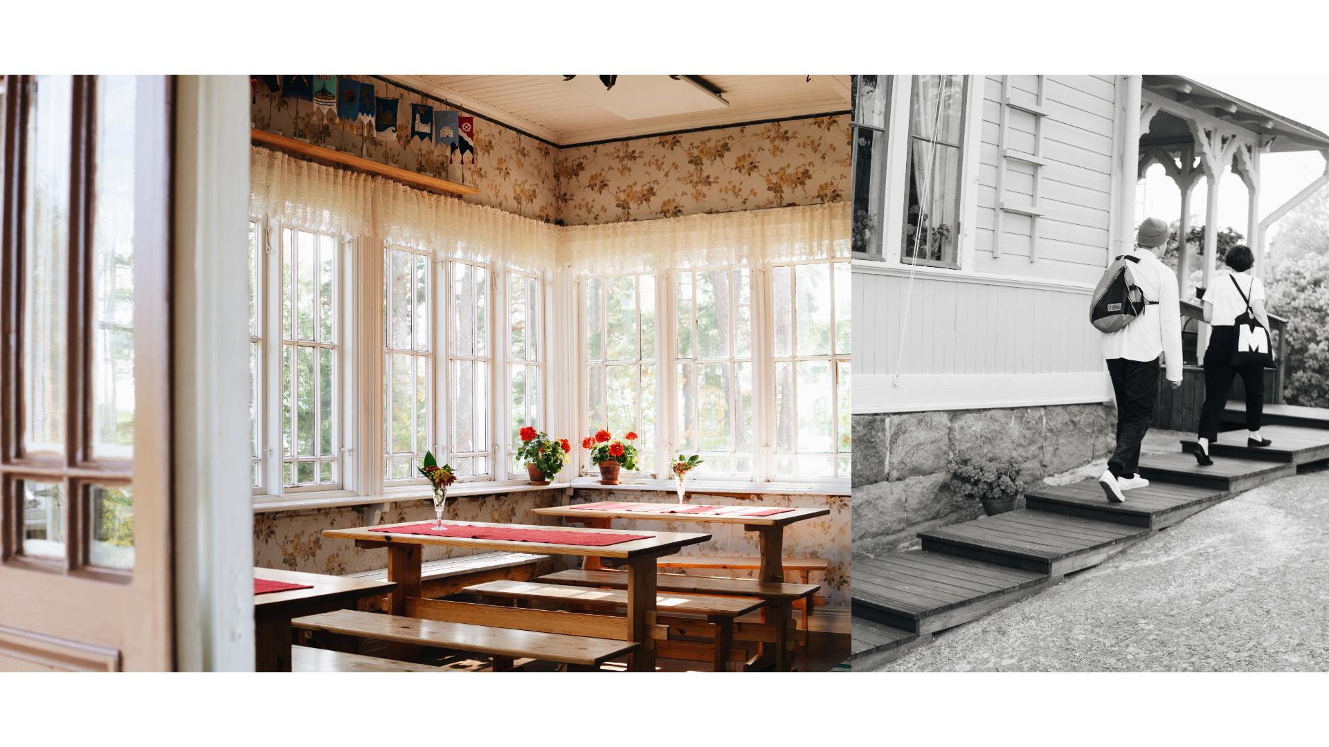Villa Salmela on sekoitus kauneutta ja kotoista rosoisuutta, mennyttä ja nykyaikaa.