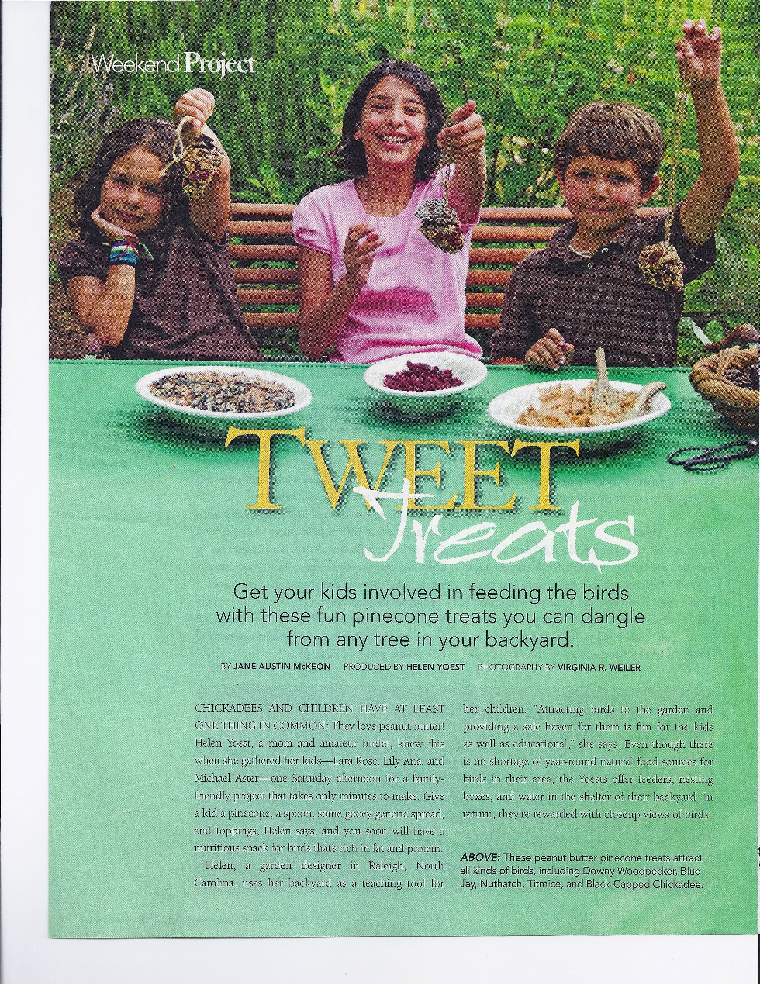 Tweet Treats in the Bee Better Teaching Garden