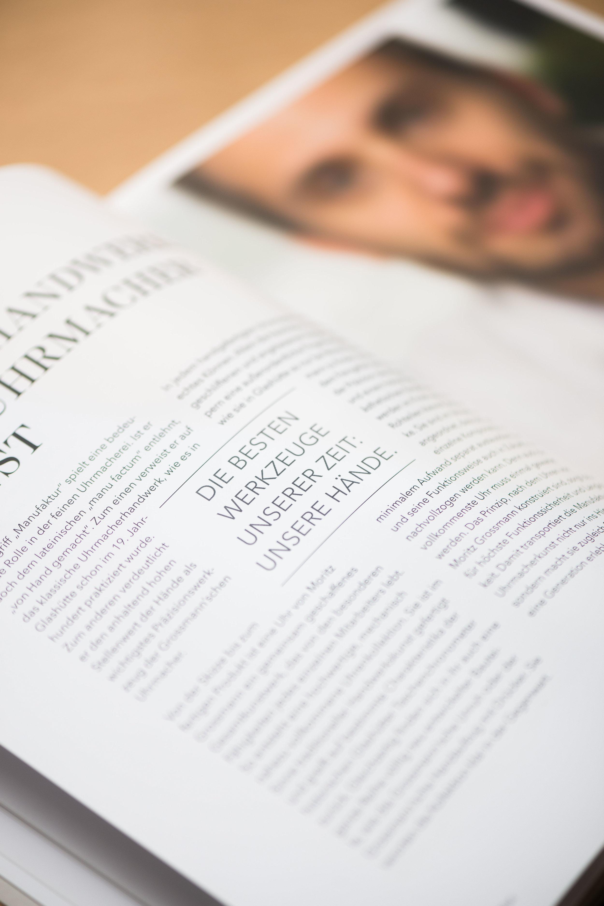 Lena Hanzel – Editorial Design – Moritz Grossmann
