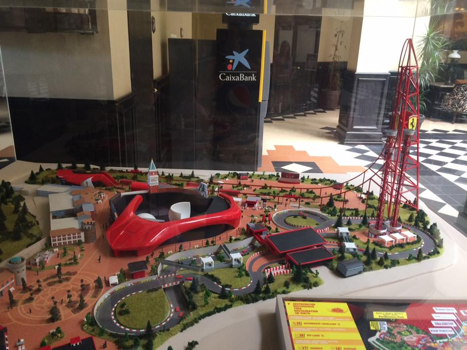 Model of Ferrari Land found in one of the hotels.