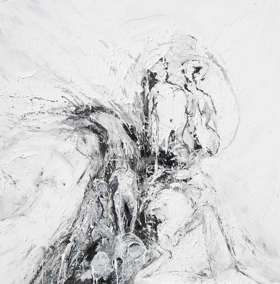 Peinture expressionniste mouvement corps course