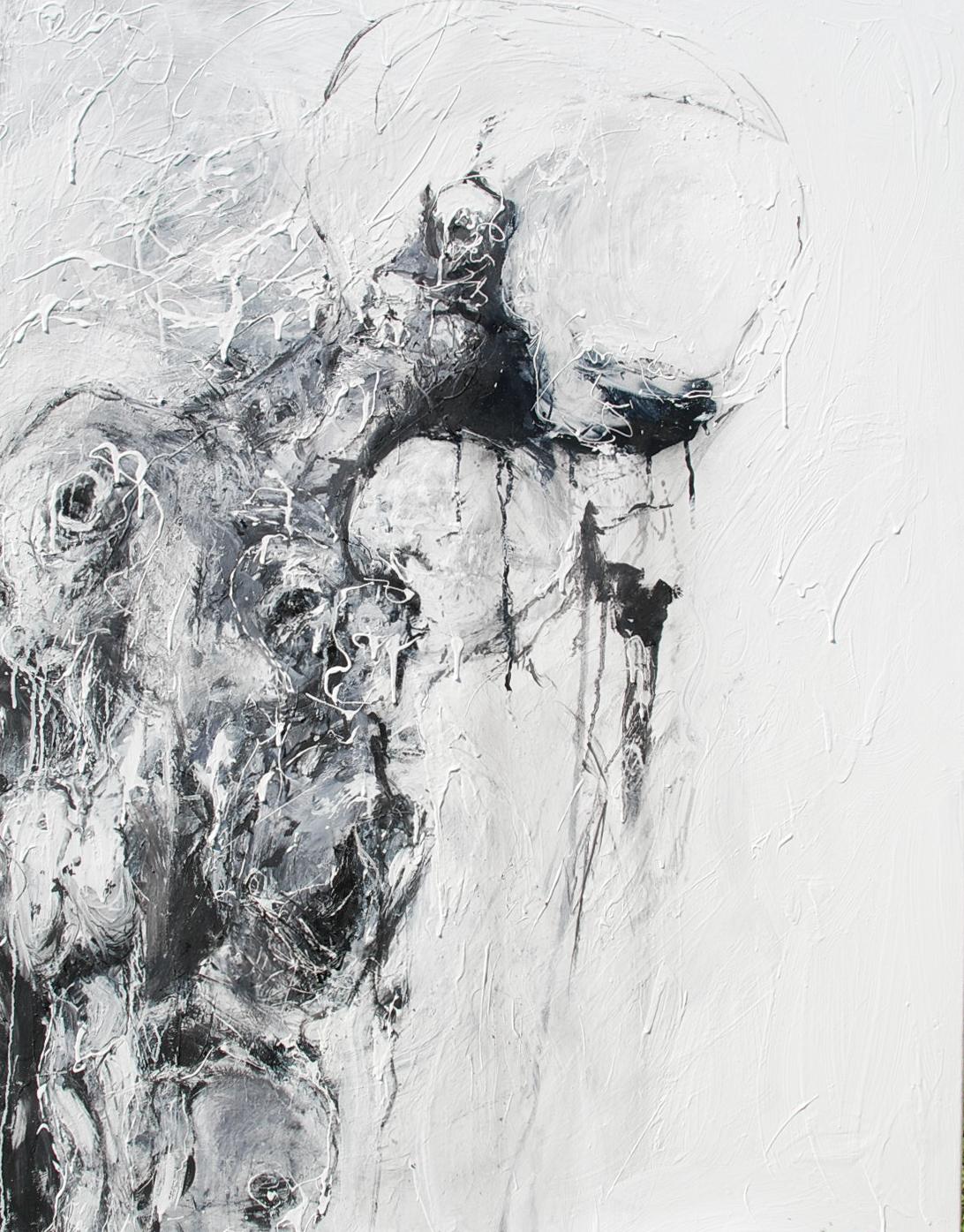116 x 81 cm  Huile, acrylique, techniques mixtes sur toiles  Châssis simple