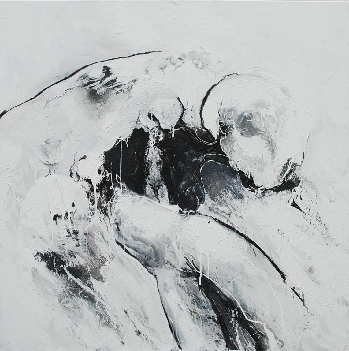 100 x 100 cm  Huile, acrylique, techniques mixtes sur toiles  Châssis large