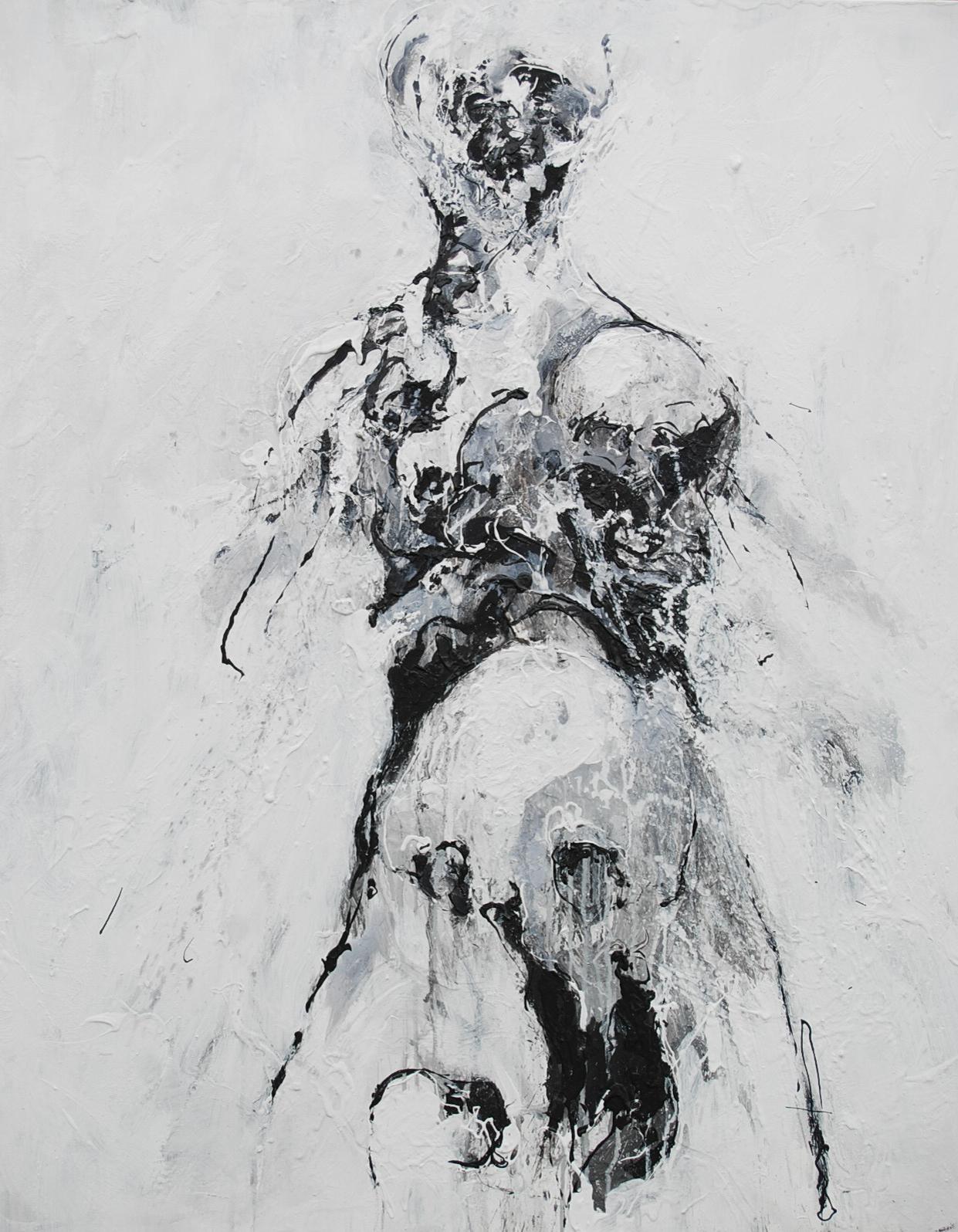 100 x 81 cm  Huile, acrylique, techniques mixtes sur toiles  Châssis simple