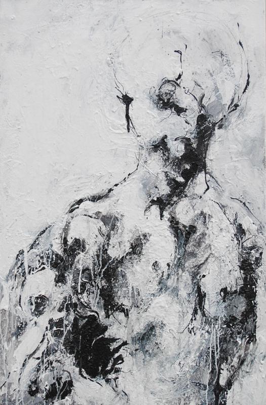 92 x 60 cm  Huile, acrylique, techniques mixtes sur toiles  Châssis simple