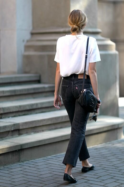Black Mom Jeans - These are my favorite pants for any weekend adventure. Pair these with a cute belt, a tucked in shirt, and a long cardigan for a casual look. Look for a pair with structure and comfort, like my faves from Everlane.P.S. Don't shy away from a pair that might need to be broken in, that just means they're made of high quality denim!-Everlane Cheeky Bootcut Jean-ASOS Stradivarius Mom Jean-ASOS Monki Kimono High Wasted JeanPhoto by Levi's