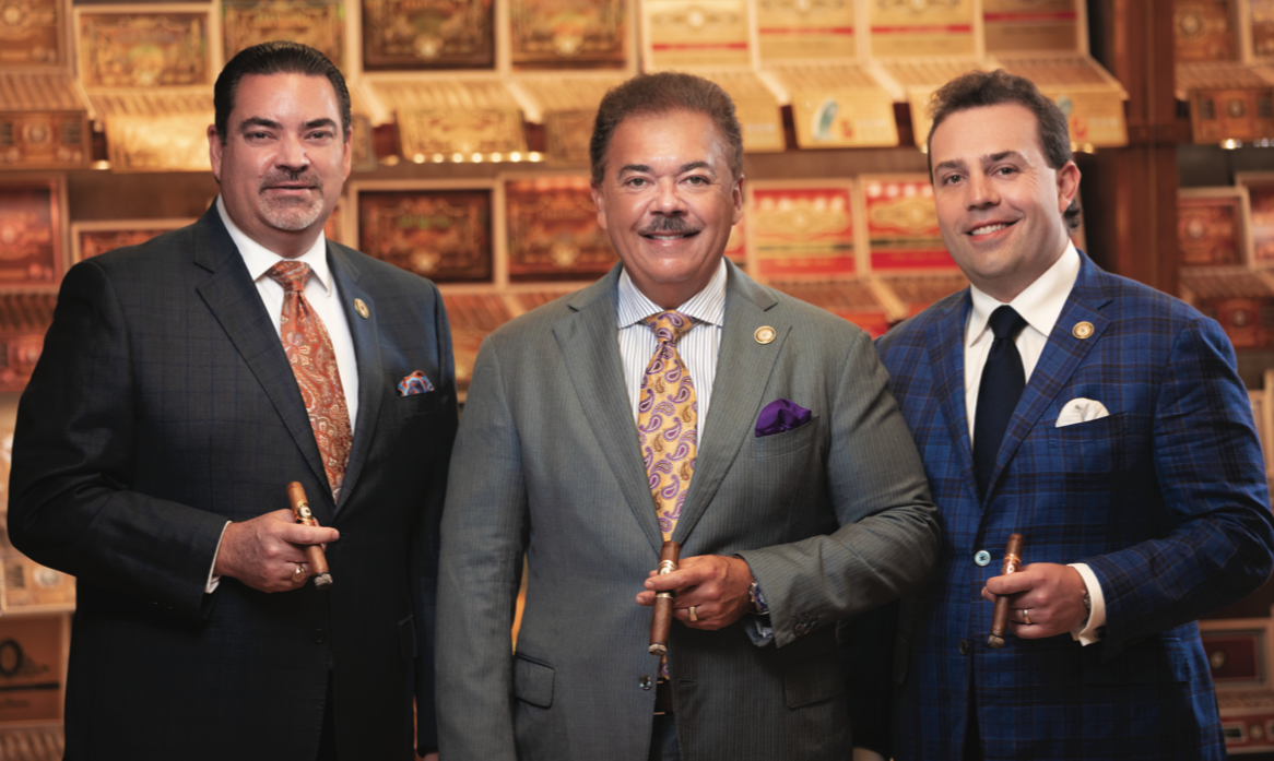 Perdomo Cigars' vice president, Arthur Kemper (left), has had a tremendous influence on Nicholas Perdomo III's cigar business education.