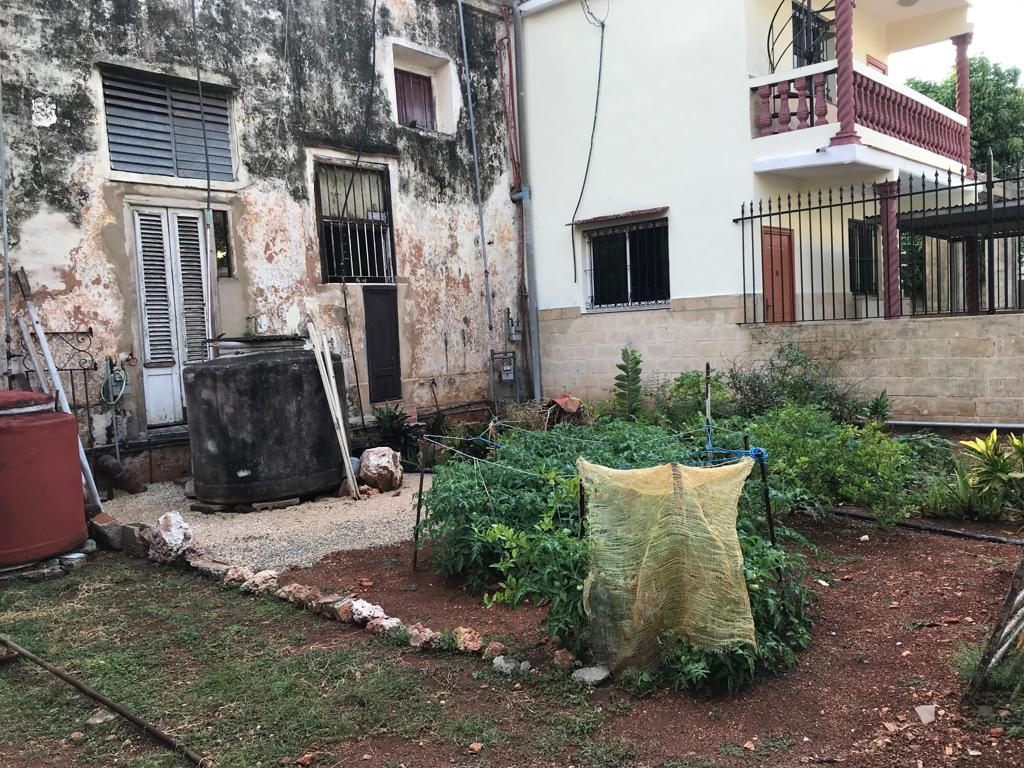 Small permaculture garden in front of private residence, Havana Photo: Eva Sajovic