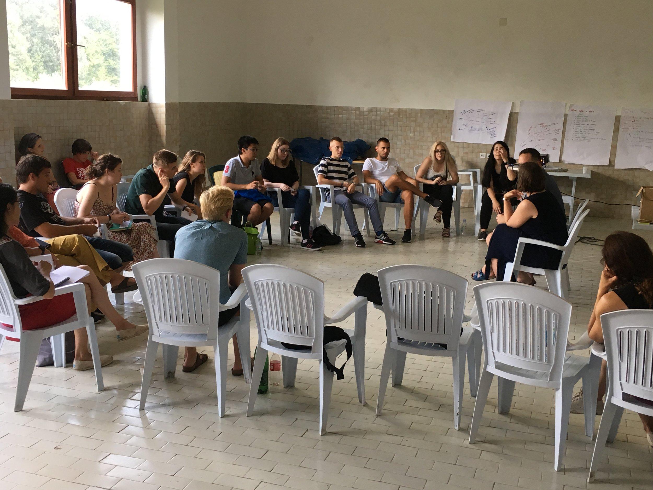 Peacebuilding and environment workshop, Kevljani. Photo: Agnes Czajka
