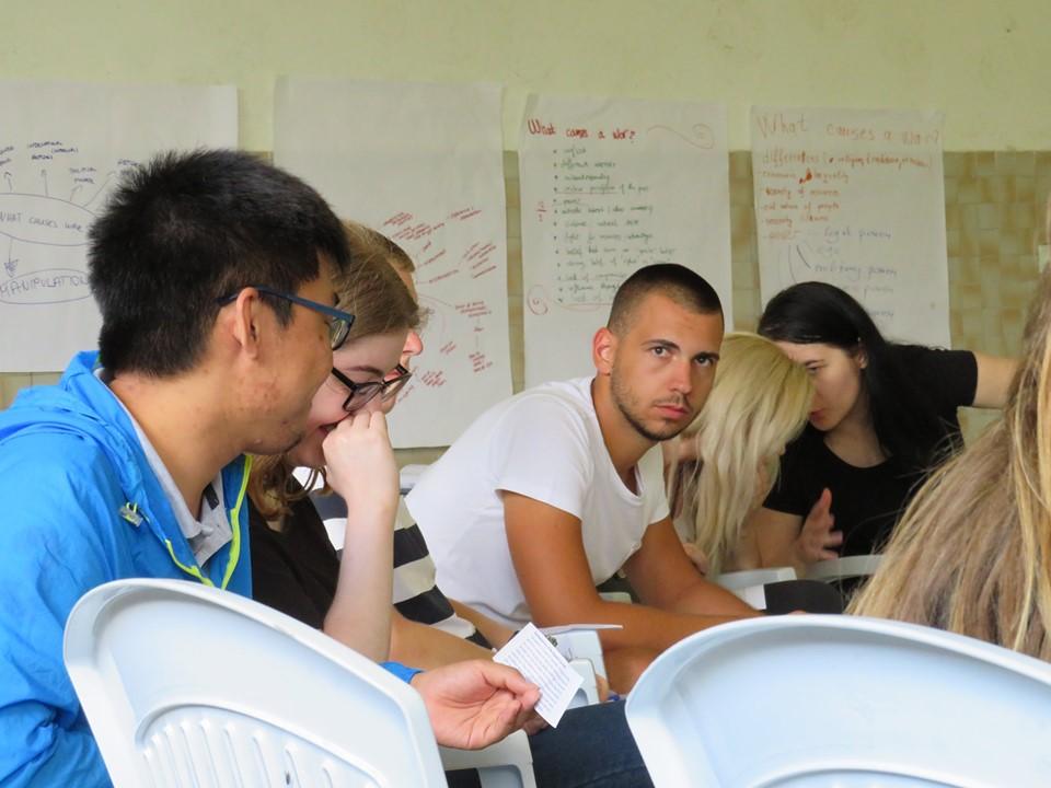 Participants discuss scenarios during simulation exercise. Photo: Dijana Rakovic