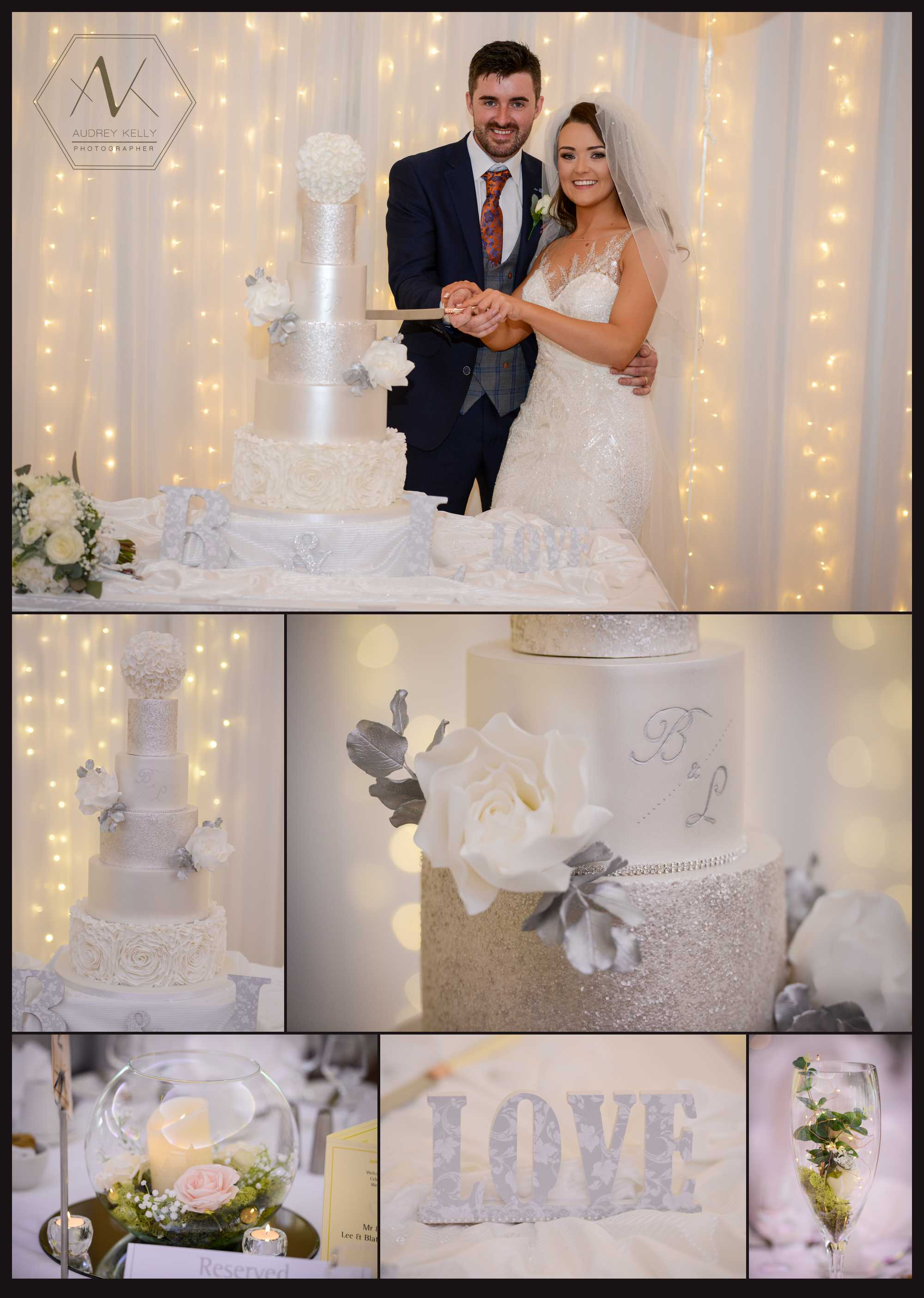 wedding Cake design by: Yumtastic Cakes ,Omagh.