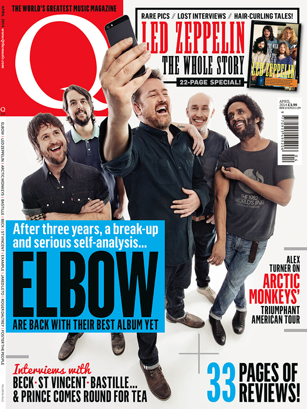 Q Magazine Elbow Cover Shoot. Hair & styling by Isobel
