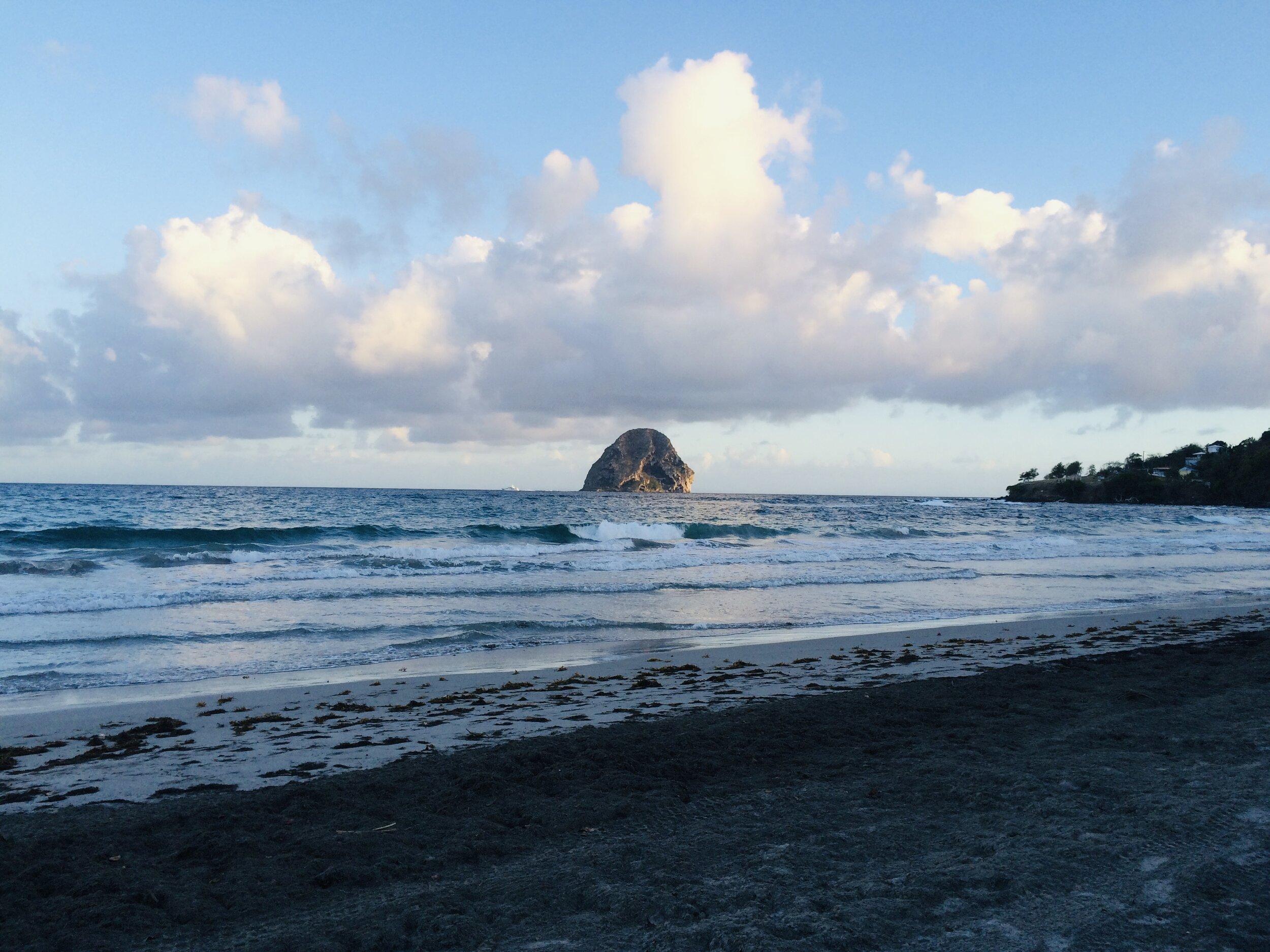 Anse Cafard Beach near Le Diamant