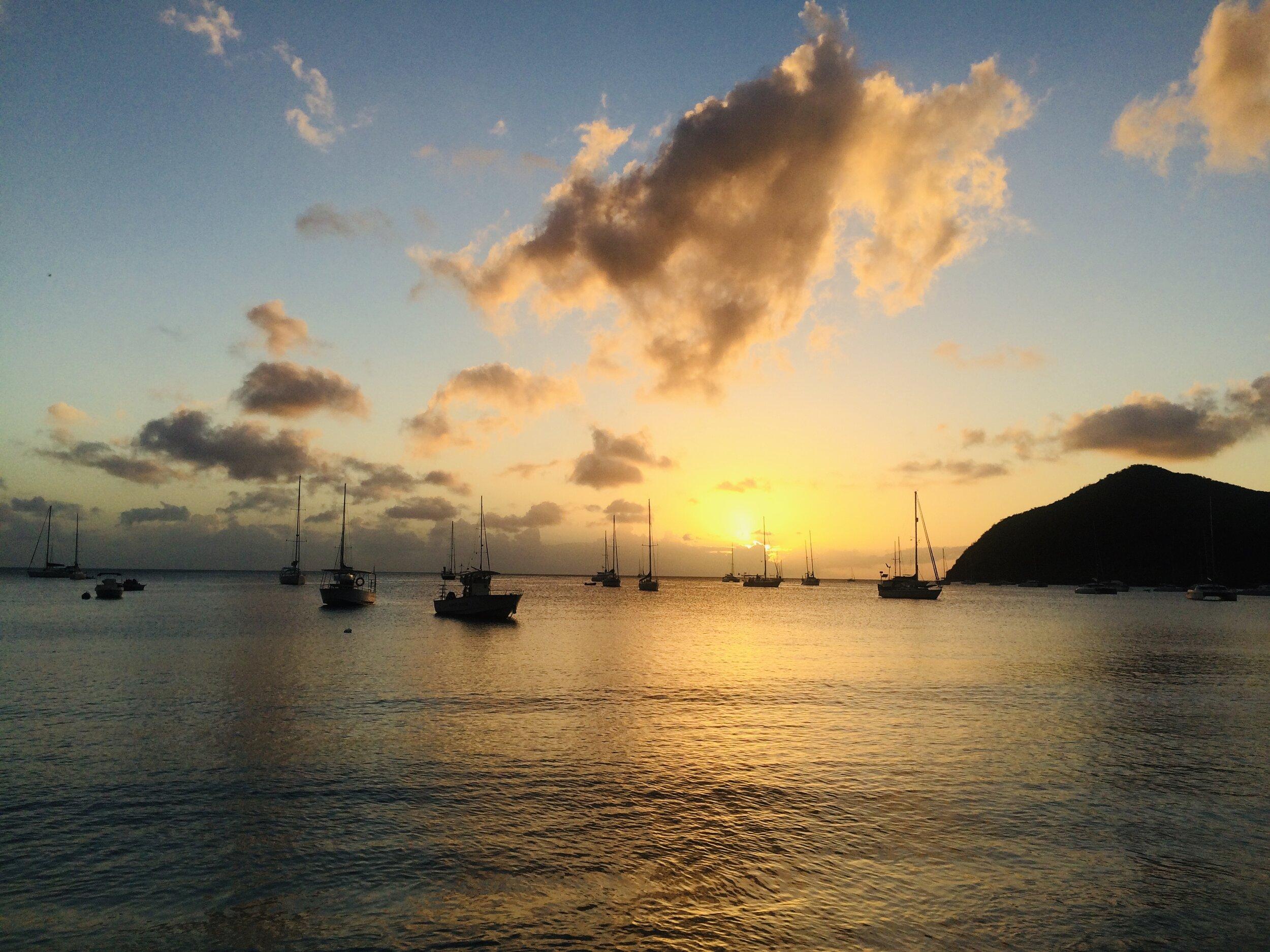 Sunset at    Grand Anse d'Arlet