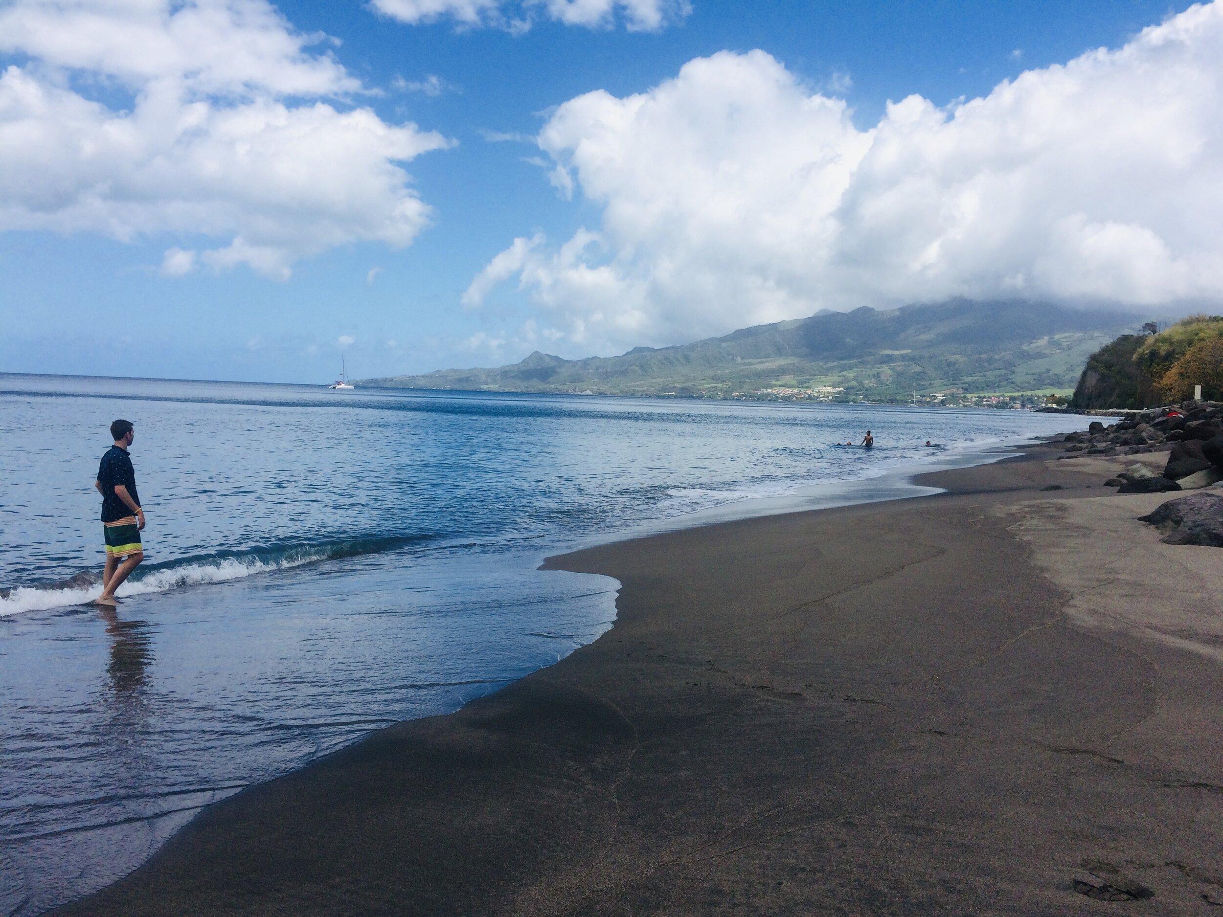 Le Carbet Black Sand Beaches