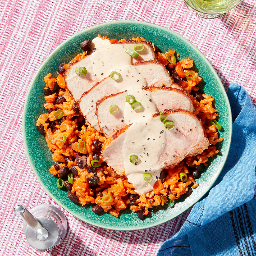 Cajun-Style Pork Roast - with Red Rice & Beans (for customers on 2 serving plan only)