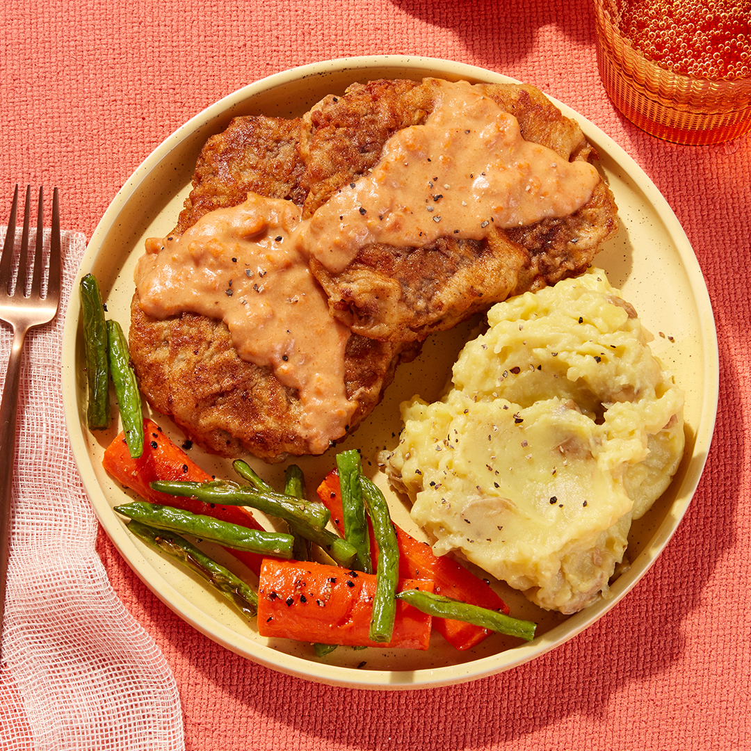 Texas-Style Chicken-Fried Steaks & Gravy - with Mashed Potatoes