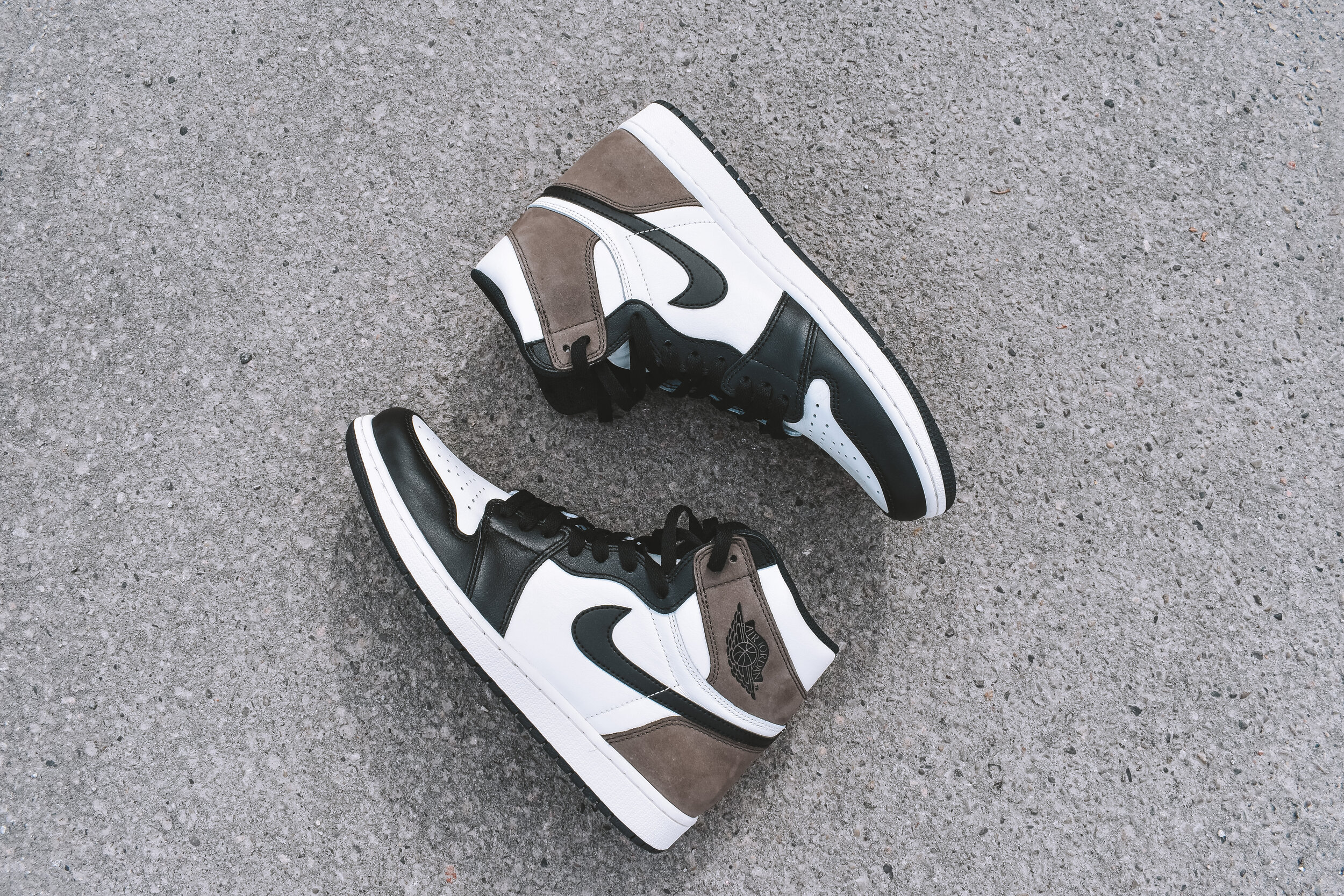 Jordan 1 Dark Mocha , a versatile, clean shoe that can match almost every outfit because of its color scheme // FLEUR BOOMSMA