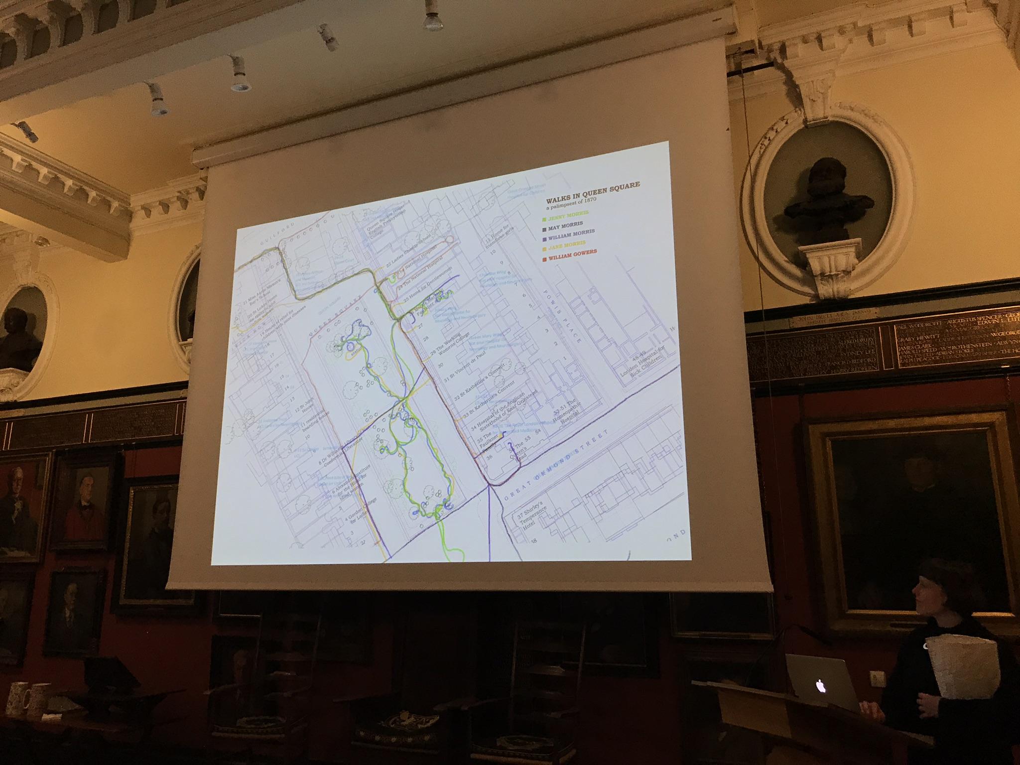 Julia's slide of Walks in Queen Square