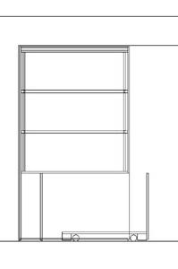 interieurbouw: tekening tv kast /scheidingswand