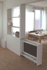 interieurbouw: foto tv-kast / tv opgeborgen