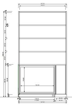 interieurbouw: tv kast 3D-tekening