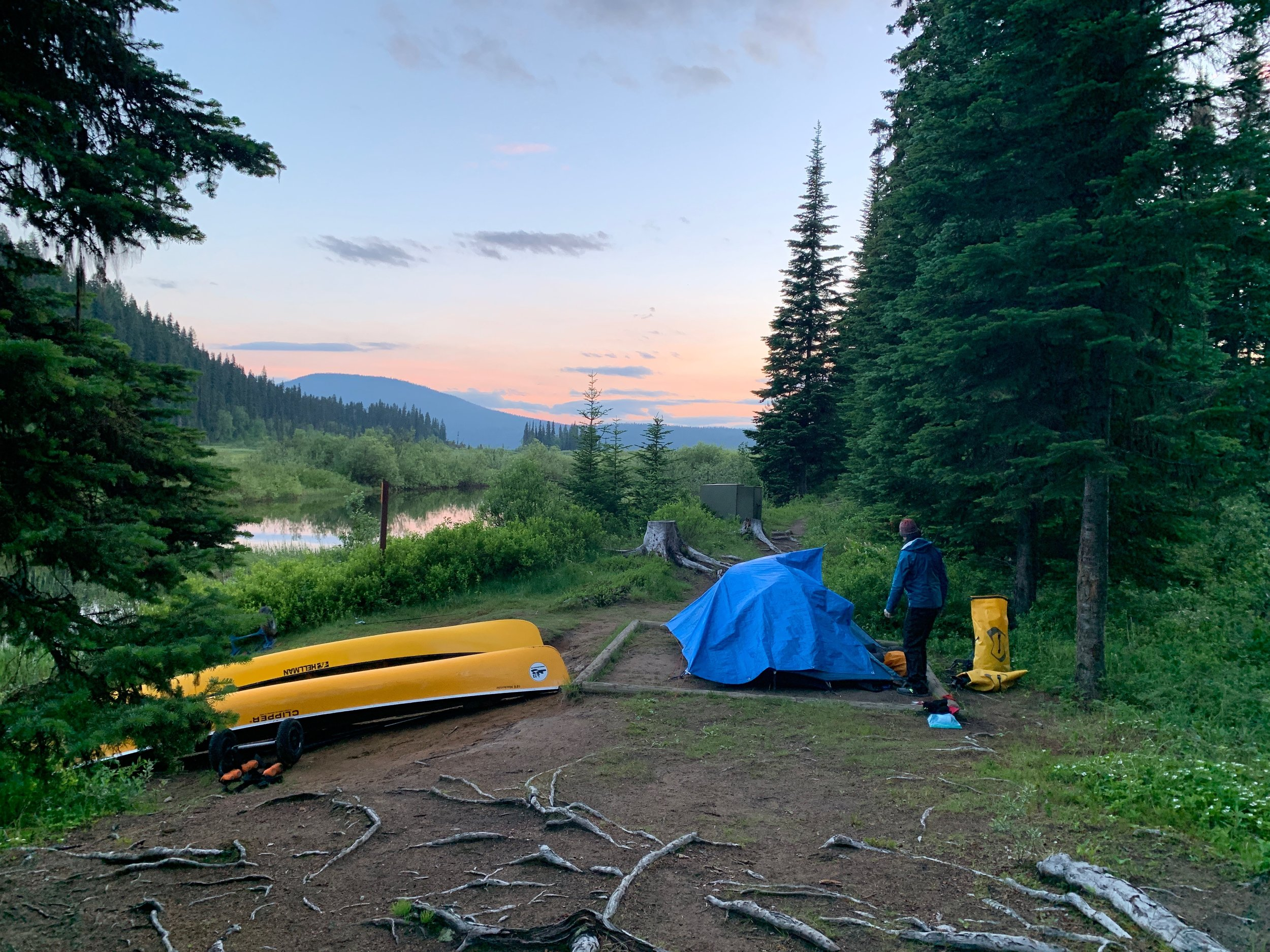 Our final campsite on the Bowron Lakes Circuit
