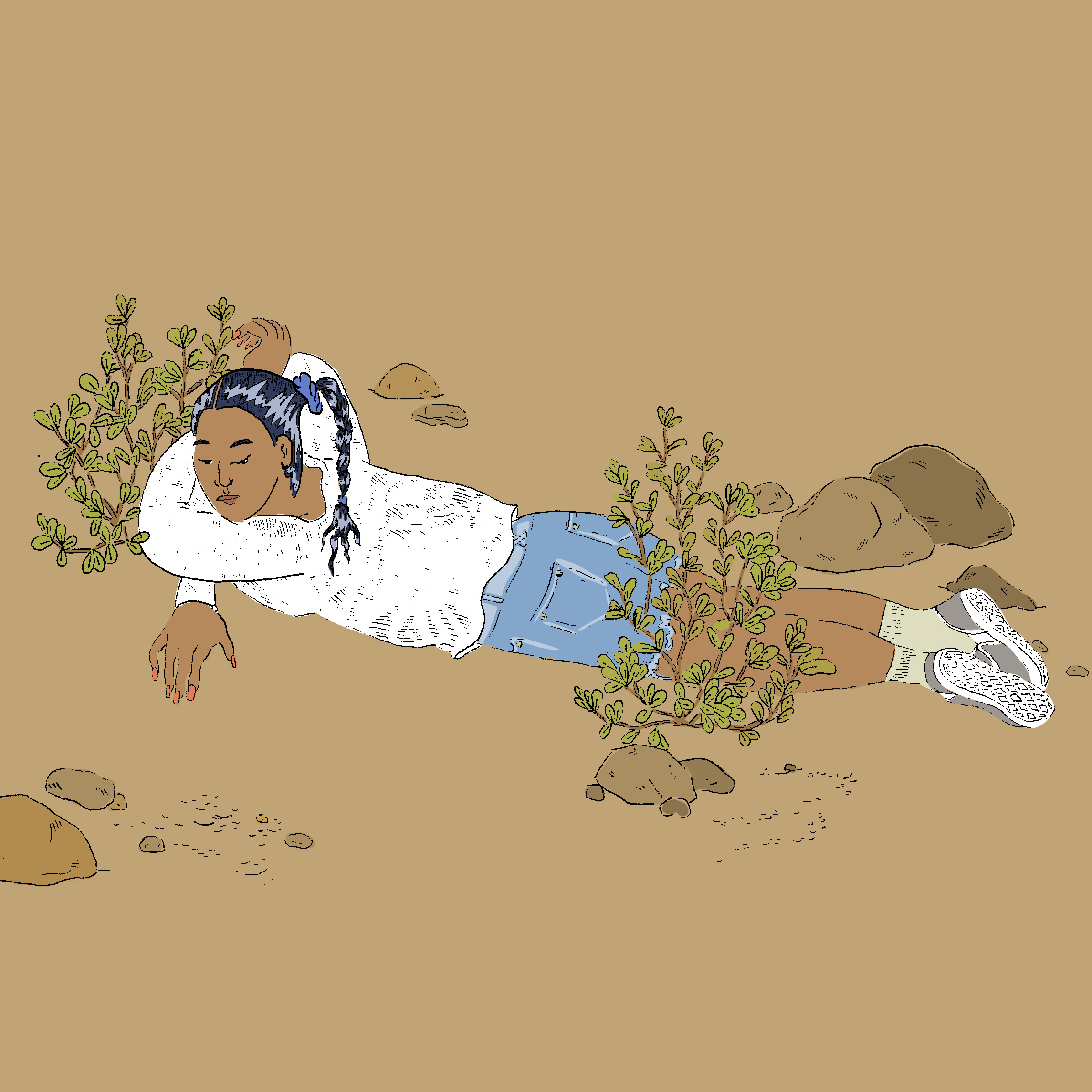 I planted my feet in the soil and Never go entirely, Pen and Ink, Digital Color, 2019.jpg