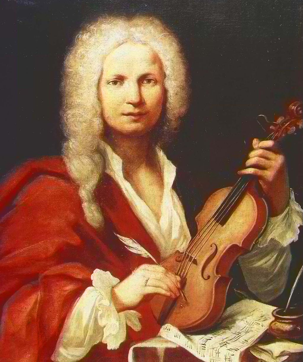 Composer and  maestro di violino  of the   Ospedale della Pietà,   Antonio Vivaldi.