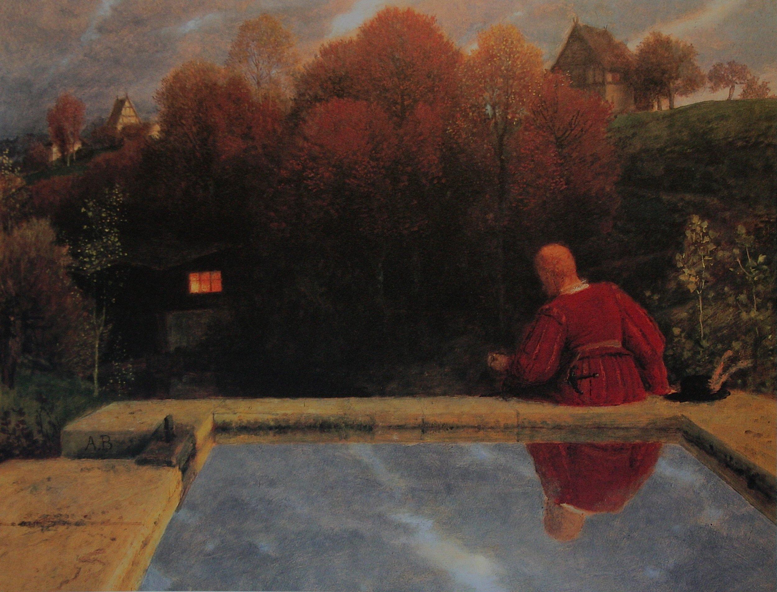 Arnold Böcklin's  The Return , which inspired Rachmaninov's B minor Prélude, Op. 32, No. 10.
