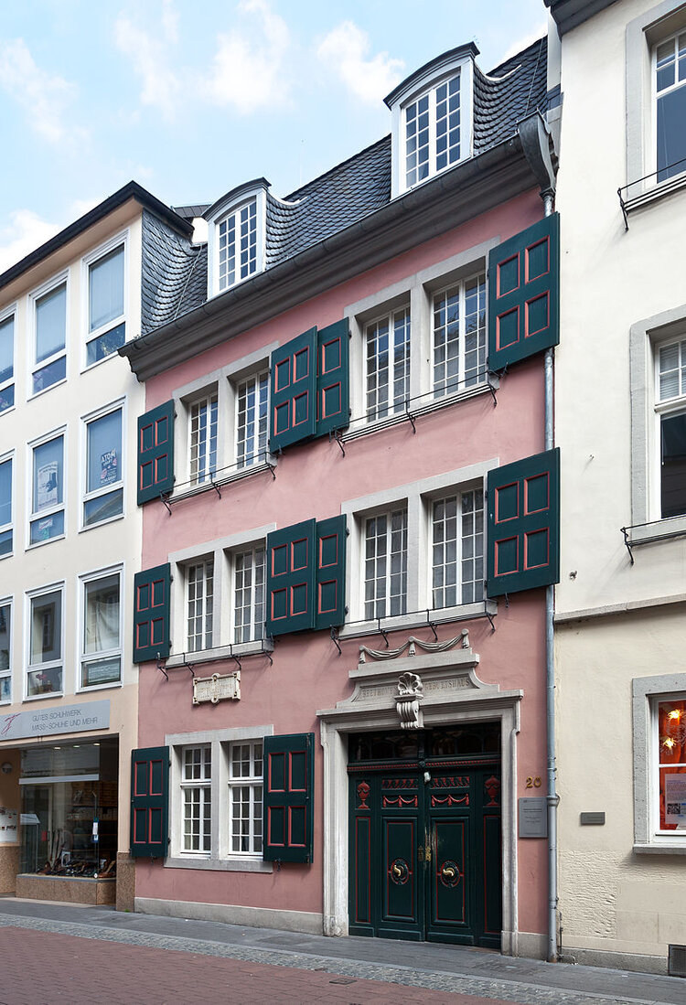 Beethoven's childhood home in Bonn, now a national museum.