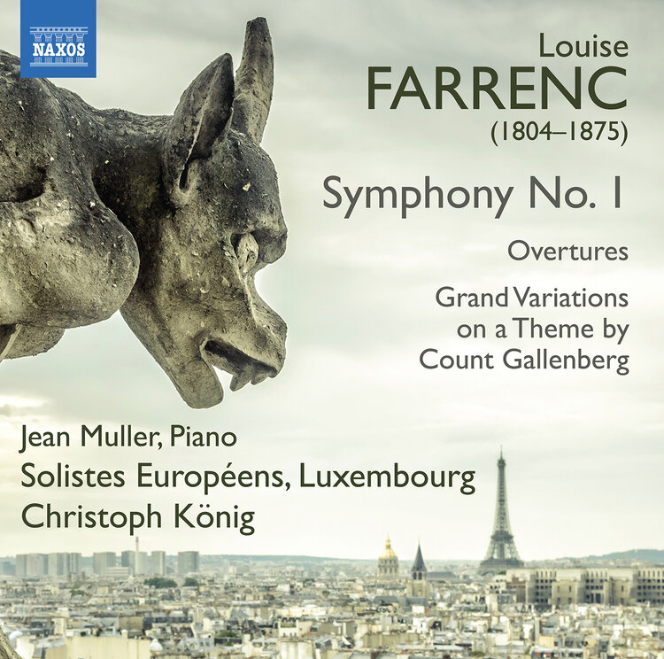 A February 2020 Naxos release featuring works from Louise Farrenc. (Click to access.)