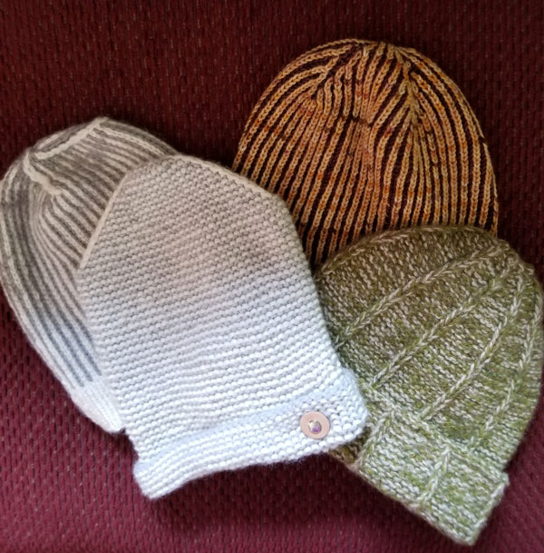 We have two color hat samples