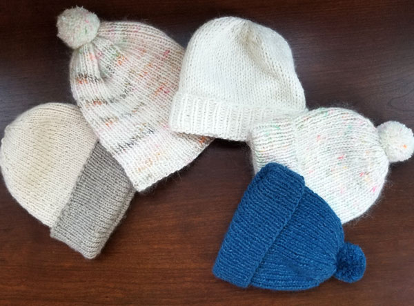 We have baby hat samples