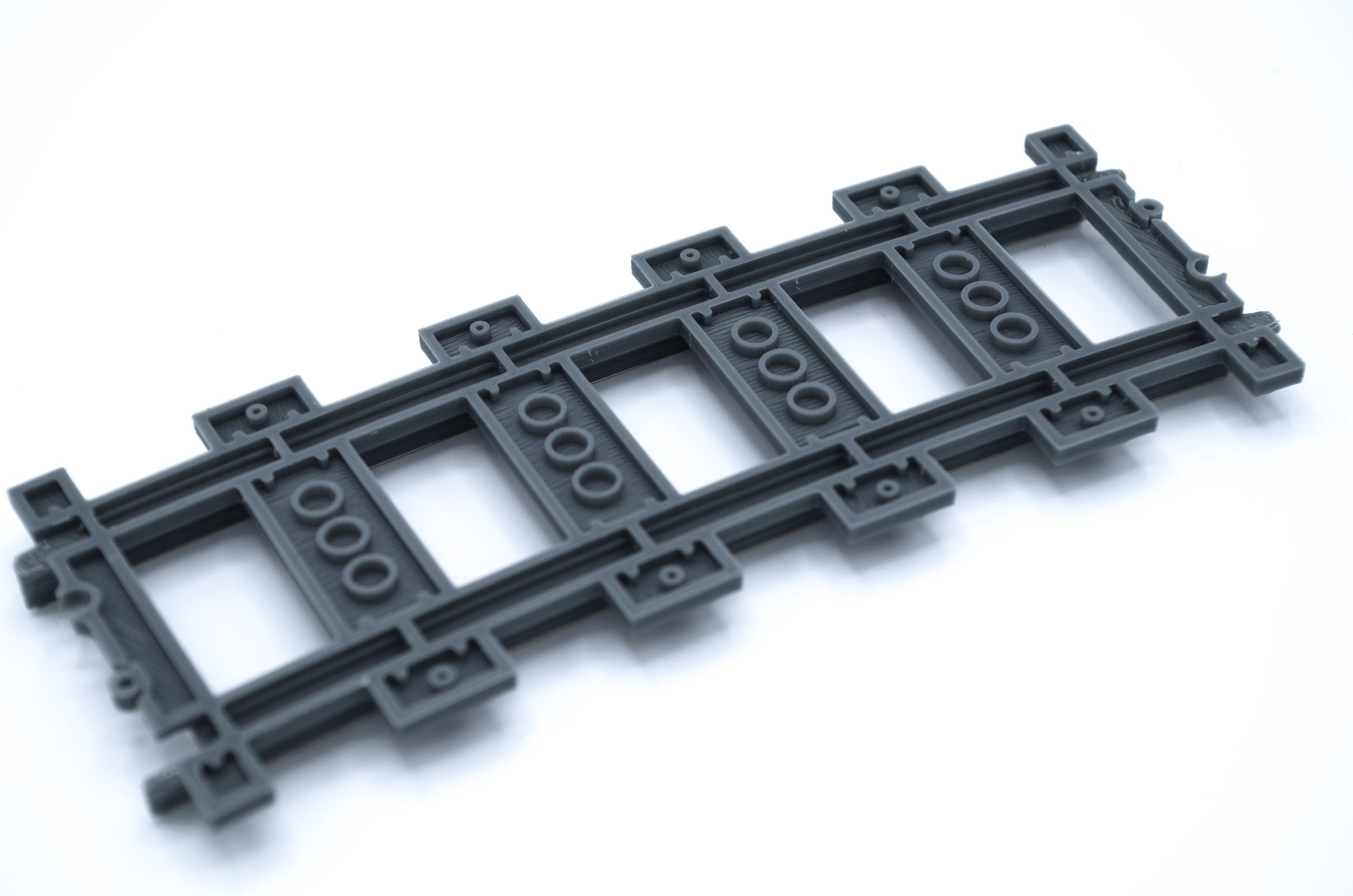 Custom 3D Printed Lego 9V Compatible //w Metal Rails Wide Radius R104 Train Track