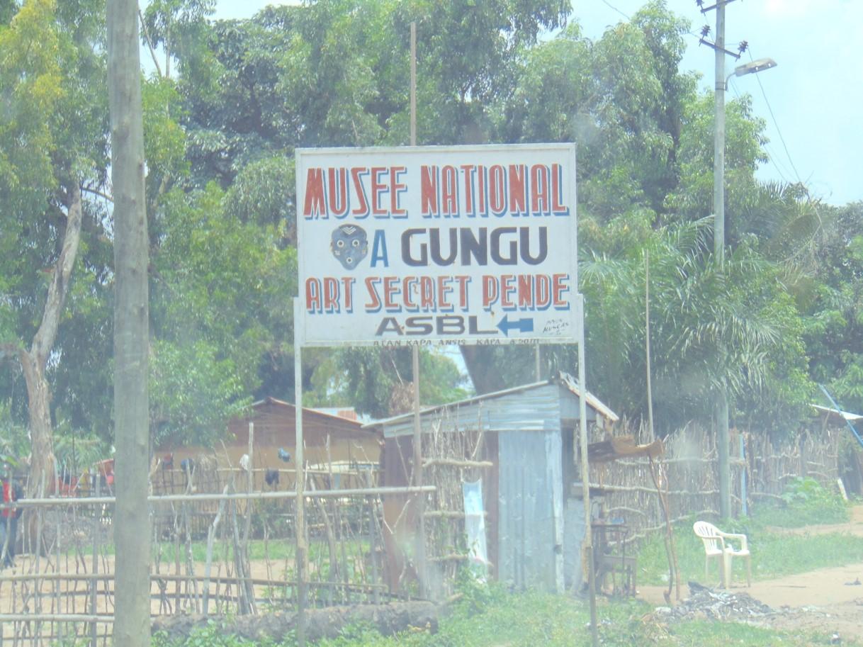 Pende art museum in Gungu (25 miles away)