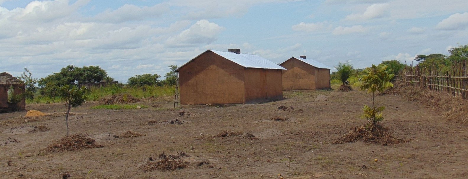 Renovated girls' dormitory with 40 beds for 55 girls – 2017. The other two dormitory building remain in ruin.
