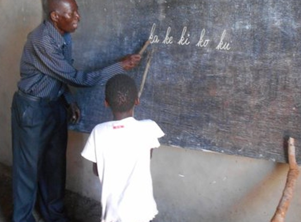 Papa Kayembe Pierre in his class - 2013