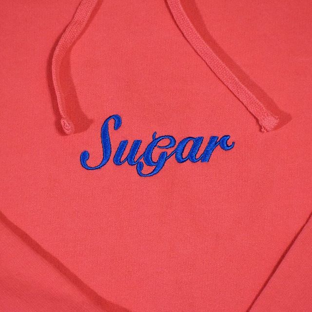 Some sizes still remain of the garment dyed sugar hoodies.  Gets yours at sugarnyc.co