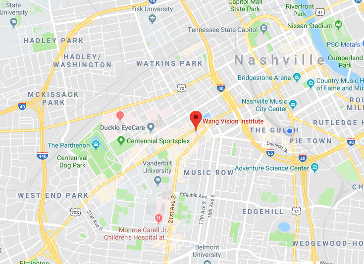 Location - Wang Vision Institute1150, 1801 West End Ave.Nashville, TN 37203.